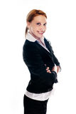 Business woman. On a white isolated background Royalty Free Stock Images