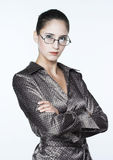 Business-woman. Young business-woman in glassis Stock Photography