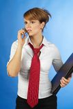Business Woman. Calling woman Royalty Free Stock Image