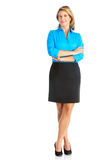 Business woman. Smiling business woman. Isolated over white background stock images