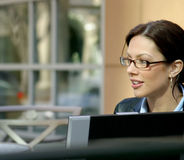 Business Woman. Wearing glasses stock photography