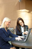 Business Woman. Business Women with Laptop & Cells stock photography
