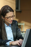 Business Woman. With Laptop stock photos