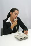 Business woman. Is prinring in office, copy, duplicate, calling stock images
