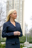 Business Woman. In Atlanta royalty free stock photography