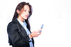 Business Woman. Woman with cell royalty free stock image