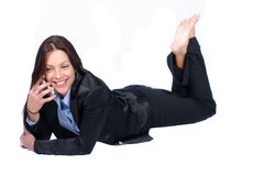 Business Woman. Woman with Cell royalty free stock photography