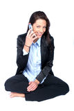 Business Woman. Woman with Cell royalty free stock images