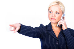 Business Woman. Woman on cell royalty free stock image