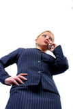 Business Woman. Busines Woman on Cell stock image
