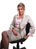 Business woman. Senior business woman (fifties) standing with positive attitude Stock Image