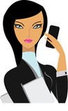 Business woman. Image of young business woman Stock Photo