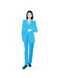 Business woman. Vector illustration of a business woman Royalty Free Stock Photography