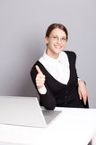 Business woman. Successful business woman sitting in the office Stock Image