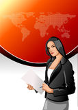 Business woman. Holding paper file Royalty Free Stock Photography