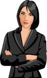 Business woman. Wearing black suit Stock Photos