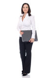 Business woman. Posing in studio Royalty Free Stock Photos