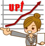 Business woman. This is an illustration of a businesswoman Stock Image