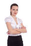Business woman. Isolated over white background Stock Images
