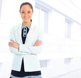 Business woman. A portrait of a young business woman in an office Royalty Free Stock Images