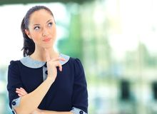 Business woman. A portrait of a young business woman in an office Stock Images