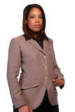 Business woman. Administrative woman isloated on white background Royalty Free Stock Photos