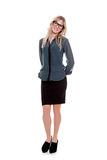 Business woman. Smart business woman boss or manager royalty free stock photos