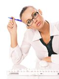 Business woman. On a white background Stock Images