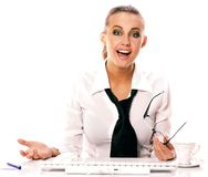 Business woman. On a white background Stock Photos
