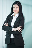Business Woman. Successful business woman looking confident and smiling Stock Photos