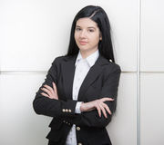 Business Woman. Successful business woman looking confident and smiling Stock Photography