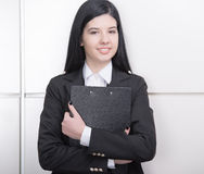 Business Woman. Successful business woman looking confident and smiling Royalty Free Stock Images