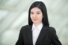 Business Woman. Successful business woman looking confident and smiling Royalty Free Stock Photos