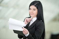 Business Woman. Successful business woman looking confident and smiling Stock Images