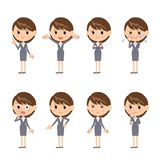 Business woman. In different expressions Royalty Free Stock Image