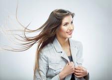 2 business woman 在行动的头发 免版税库存照片