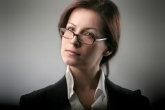 Business woman. A portrait of a business woman Stock Photography