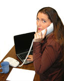 Business Woman 4697. Office woman on phone Stock Images