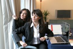 Business woman 5. Two business woman in a meeting room Stock Images