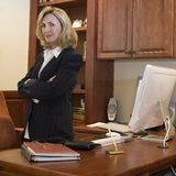 Business woman 6. Female business executive is in her office Stock Images