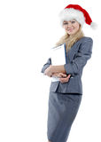 Business-woman. In a uniform with a smile Royalty Free Stock Photography
