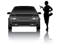 Business woman. With new car Stock Photo