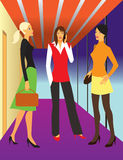 Business woman. Illustration of 3 business woman situated in office Stock Photos