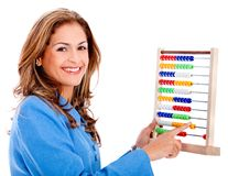 Business woman with abacus Royalty Free Stock Images