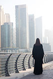 Business woman in an abaya. Professional business woman in a traditional emirati abaya Stock Images