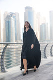 Business woman in an abaya. Professional business woman in a traditional emirati abaya Royalty Free Stock Photography