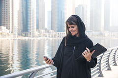 Business woman in an abaya. Stock Image