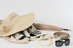 Business woman accessories. On white background royalty free stock photography