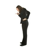 Business woman accusing Stock Images