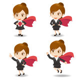Business woman act as superwoman Royalty Free Stock Image
